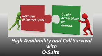 HA, Call Survival with Redundant Q-Suite